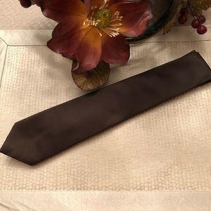 """Wembley 3"""" Chocolate brown men's tie"""